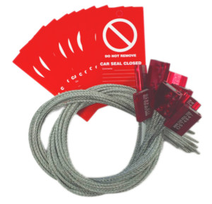 Pack of 10 Red Car Seals & Tags