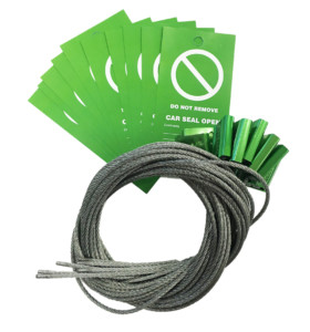Pack of 10 Green Car Seals & Tags